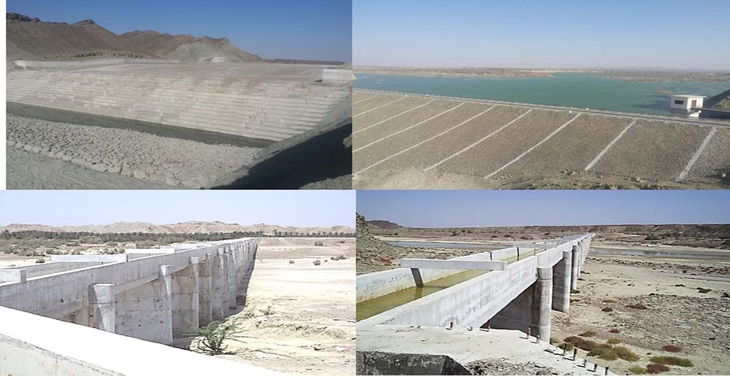 Necessary facilities of fresh water treatment, water supply and distribution