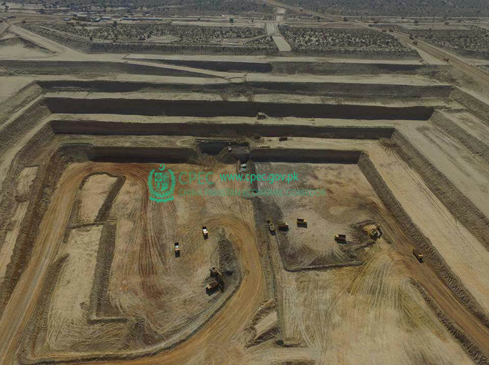 Surface mine in block II of Thar Coal field, 3.8 million tons/year