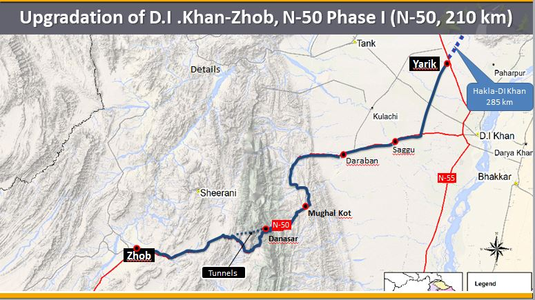 Upgradation of D.I.Khan (Yarik) - Zhob, N-50 Phase-I (210 km)